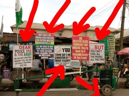 Hours After A Fresh Protest Started In Lagos, See What Was Spotted In Onitsha Market
