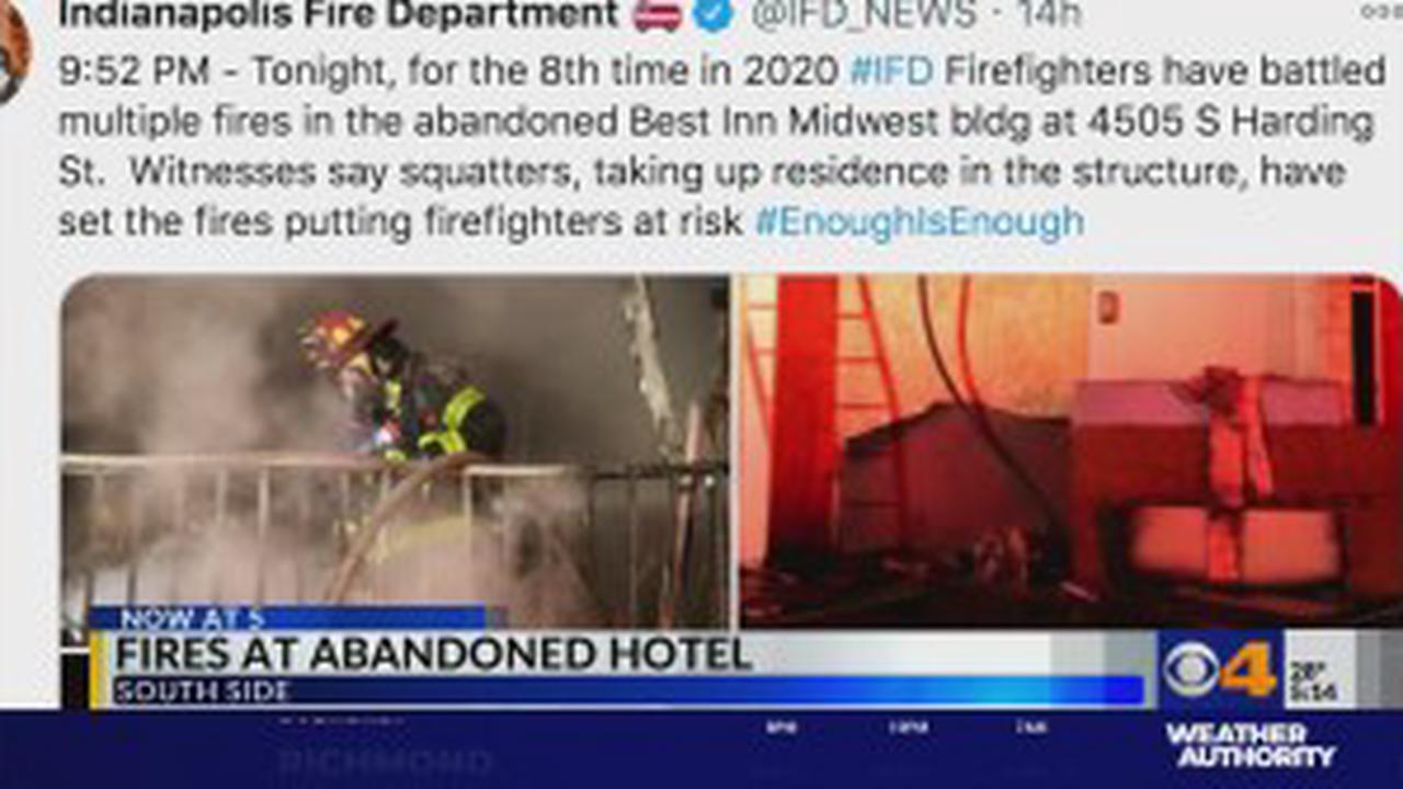 Crews called to eighth fire at abandoned motel