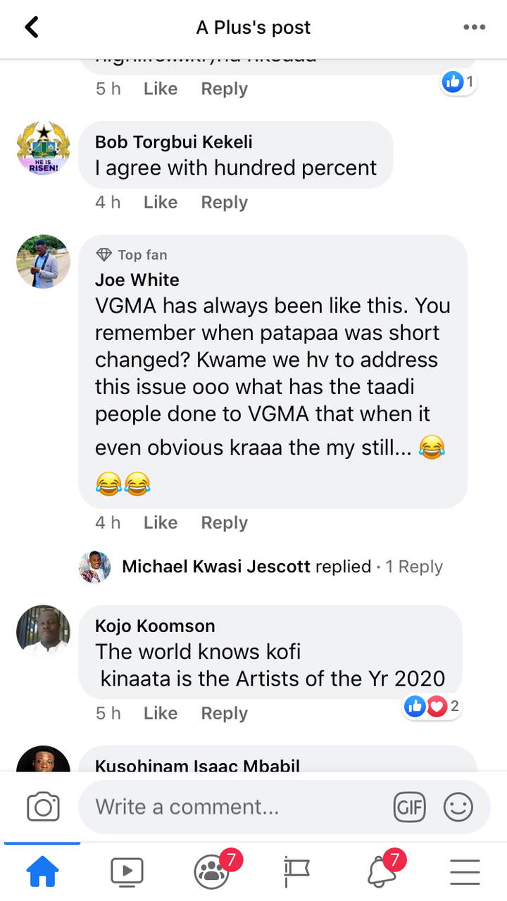 43ddc4c0cdad60e464214967761e5e01?quality=uhq&resize=720 - Mixed Reactions On Social Media After Kuami Eugene Wins Artist Of The Year @ VGMA21