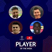 See The Nominees Of The UEFA CL Player Of The Week As Giroud Made The List