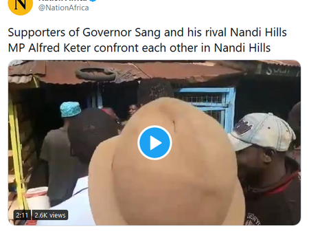 Looming Nightmare in Rift valley As Sang's and Keter's allies Confront Each Other Over This