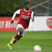 Nigerian winger scores his third goal in four matches as his Arsenal U18 team were defeated today.