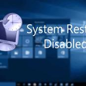 How to Fix Windows System Restore is Disabled or Turned Off