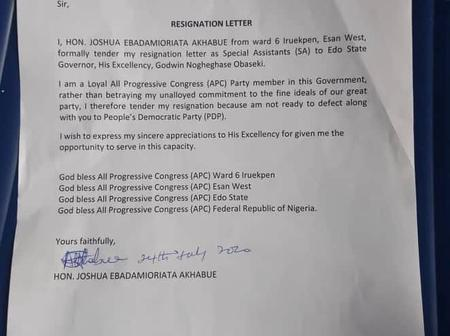 Edo Decides: Obaseki In Troubled Waters As Another Special Adviser From Esan Resigns(Photos)