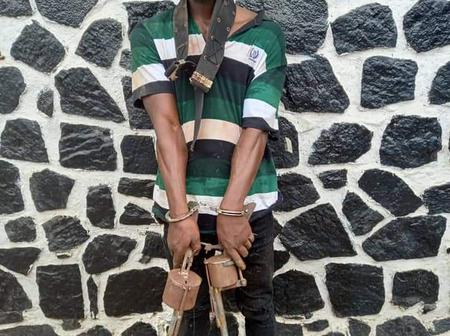 After This Notorious Killer Was Arrested Yesterday, See The Deadly Weapons Seized From Him