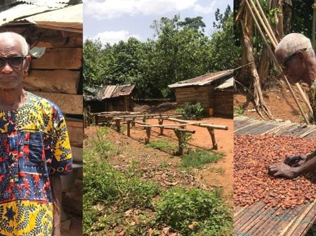 Meet Ghanaian 85-year-old Cocoa Farmer Leaving In A Small Village But Has $1 Million In His Account
