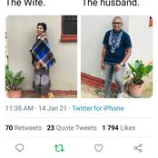 He posted his wife on Twitter and her ex came to claim her. See comments