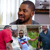 Deji Adeyanju Mocks Kcee, E-Money And Cubana Chief Priest As They Meet With Gov. Bello (Photos)