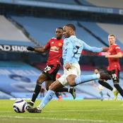 Man City World class Winger sets unwanted record versus Man utd after derby lose at the Etihad