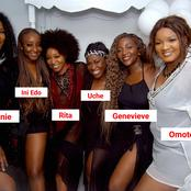 Check Out this Throwback Photo of Omotola, Genevieve, Ini Edo, Rita, Uche and Stephanie in One Frame