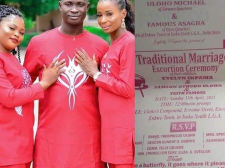 Reactions As Igbo Man Sets To Marry Two Wives On The Same Day