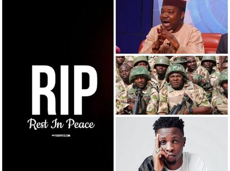 Today's Headlines: 3 Prominent Nigerians Die, Nigerian Soldiers Allegedly Kill 9 Youths in Benue