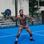 Photos of Okocha, Messi, Ronaldo, Neymar and other top footballers playing Tennis