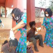 PHOTOS: How female commissioner shaved head of violent mad man, fed another after rescuing them