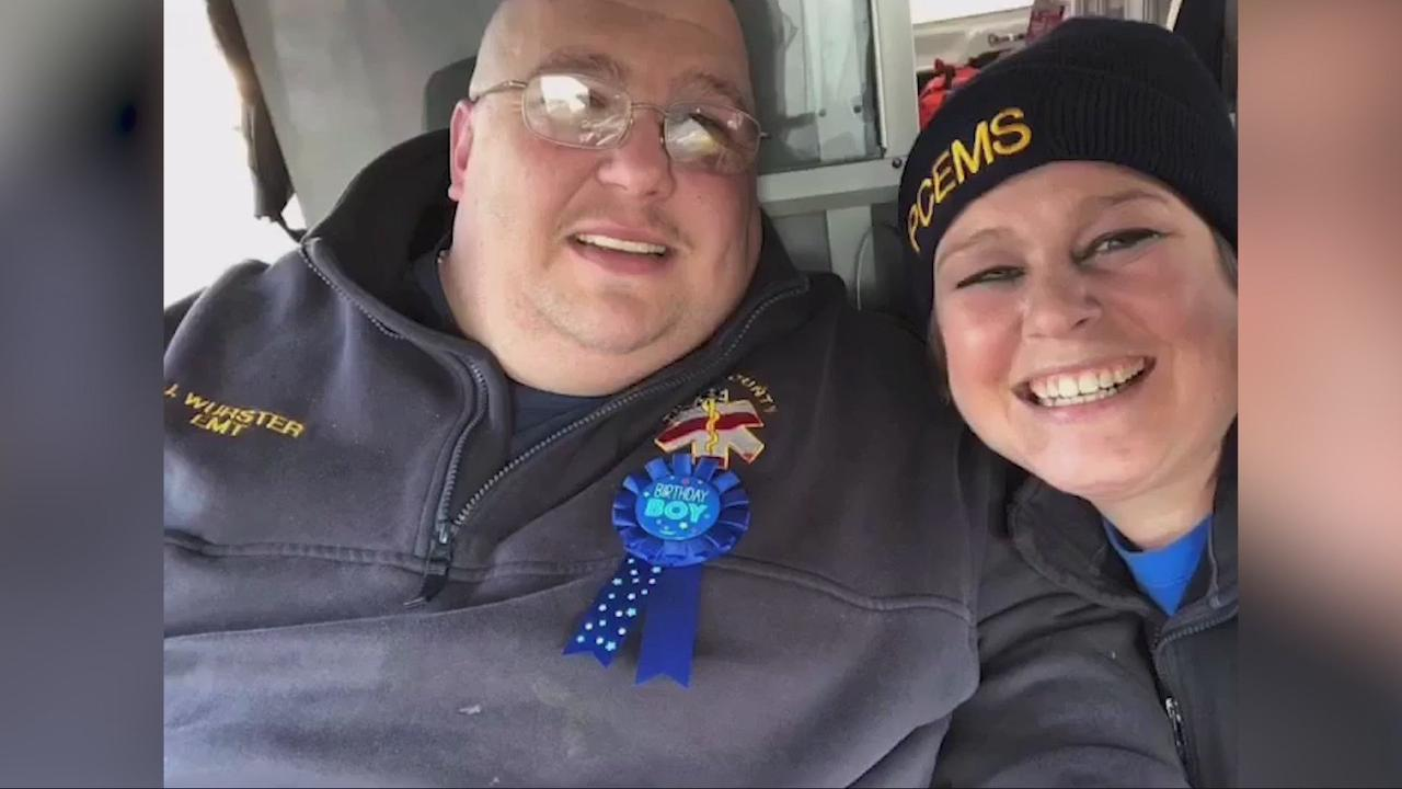 First responders say goodbye to one of their own