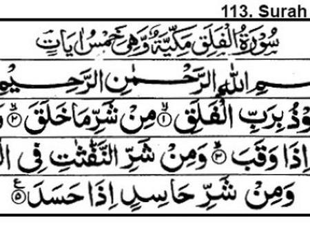 Read Suratul Falaq And Suratul Naas Benefits.