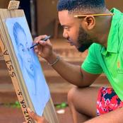 Regina Daniels Ex-boyfriend Somadina is also an artist. See photos of his pencil works.