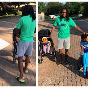 Siphiwe Tshabalala spends quality time with his beautiful children, take about being a great dad.