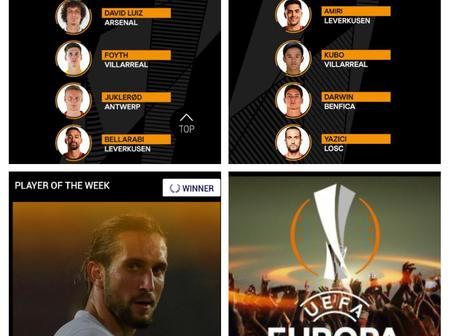 UEFA Europa announces the Europa Player and Team of the week.