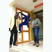 Kisii Artist Embarambamba Captured Performing Insane Stunt at Radio Citizen Station (Photo)