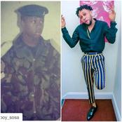 Throwback pictures of Sunkanmi Omobolanle when he was in military school. (Photos)