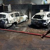 Tension High in Nairobi After Expensive Cars are Burnt Outside the Parking Bay (Photos)
