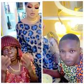 Videos: Bobrisky Finally Welcome Goodluck and his Grandma to Lagos, buys them clothes and food