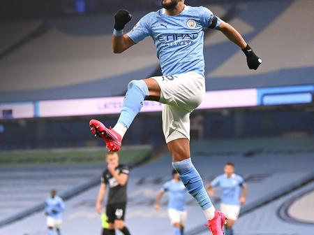Riyad Mahrez breaks a new record in Manchester City's win over Burnley