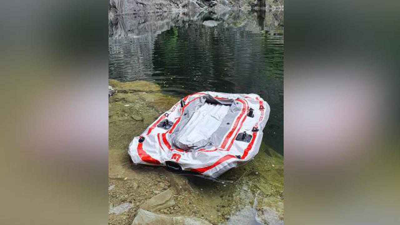 Coniston Mountain Rescue Team find dinghy during litter pick