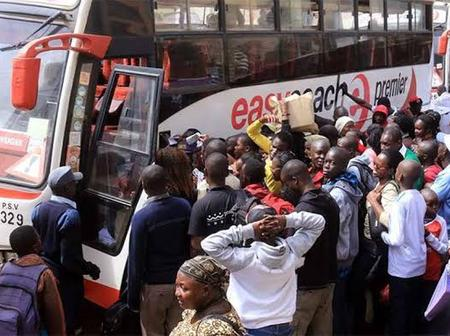 Thousands of Kenyans stranded at transportation stations trying to beat the lockdown.