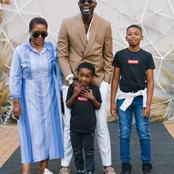 Here is Dj Black Coffee's beautiful family. See his Children in the picture.