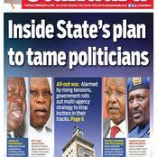 Saturday Newspaper Headlines