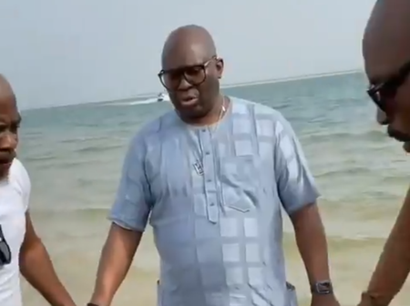 Video: See What Fayose, Siblings Were Spotted Doing At The Beach That Sparked Reactions Online