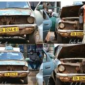 This Can Lead To Accident - See The Car A Man Drives On The Road In Kumasi (Photos)
