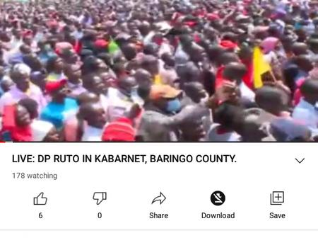 Ruto Proves He's Rift Valley's  Undisputed Kingpin With Mega Rally in Gideon Moi's Backyard