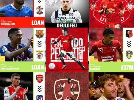 11th Hour Rush: Pellistri To Man Utd,Partey To Arsenal,Deulofeu To Watford,Torreira To Atletico