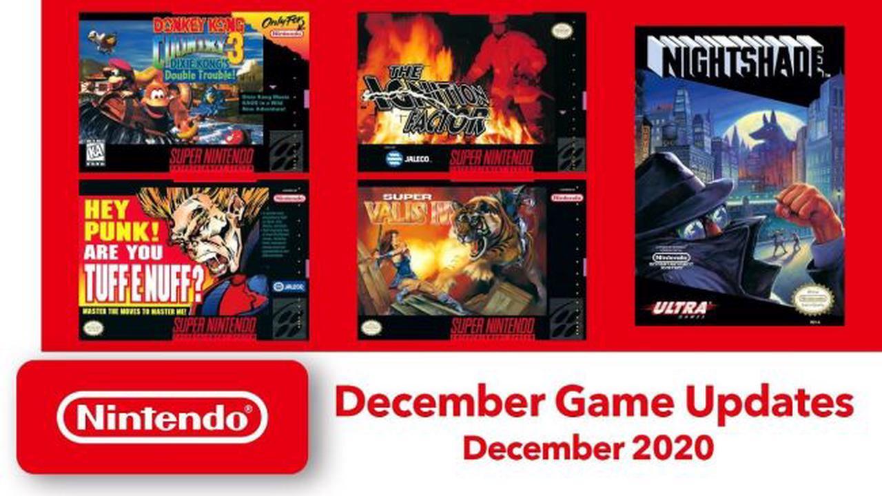 Donkey Kong Country 3 et quatre autres jeux ajoutés au Nintendo Switch Online