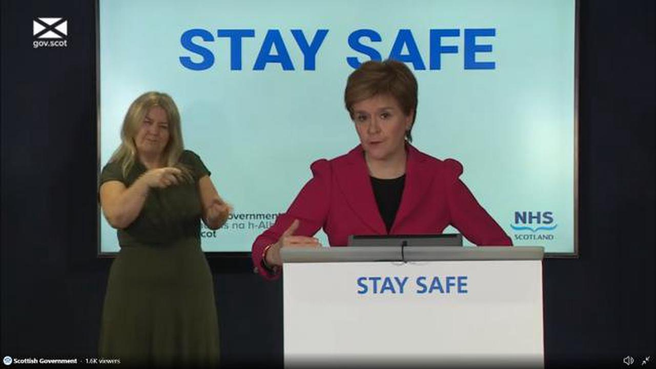 Nicola Sturgeon urges people to remember covid rules when watching Scotland play England