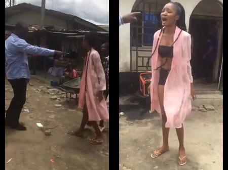 Check How Pastor Embarrassed a Girl In The Market Because Of Her Dressing