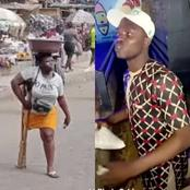 Video: Mixed Reactions As Mary, The One-Legged Hawker Recently Gifted Millions Gets Love Proposal.