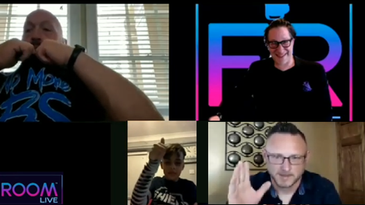 Paul Wight Surprises Wrestling For Warriors Charity Child W/Shirt Off His Back On FanRoom Live!