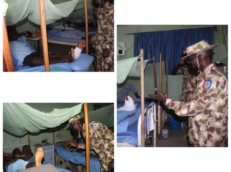 Mixed Reactions As Wounded Soldiers Are Seen Receiving Treatment In This Place