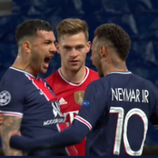 VIDEO: Check Out What Neymar Did To Kimmich After Bayern Vs PSG Match, That Has Got People Talking