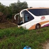 Autoroute du nord : un car UTB finit sa course dans les ravins et fait plusieurs blessés
