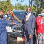 Details of Old Man Gifted With a Brand New Car by DP William Ruto's Wife -PHOTOS