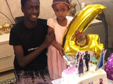 Is she your blood sister? Reactions as Ali Nuhu's Son Shared Cute Photos With A Little Girl