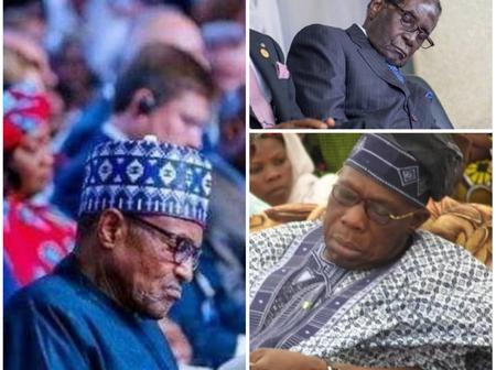 Photos of Buhari, Obasanjo and other African Presidents sleeping in Public