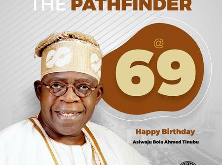 Tinubu Is Celebrating His 69th Year Birthday Today, But See Discrepancy Age On His Wikipedia
