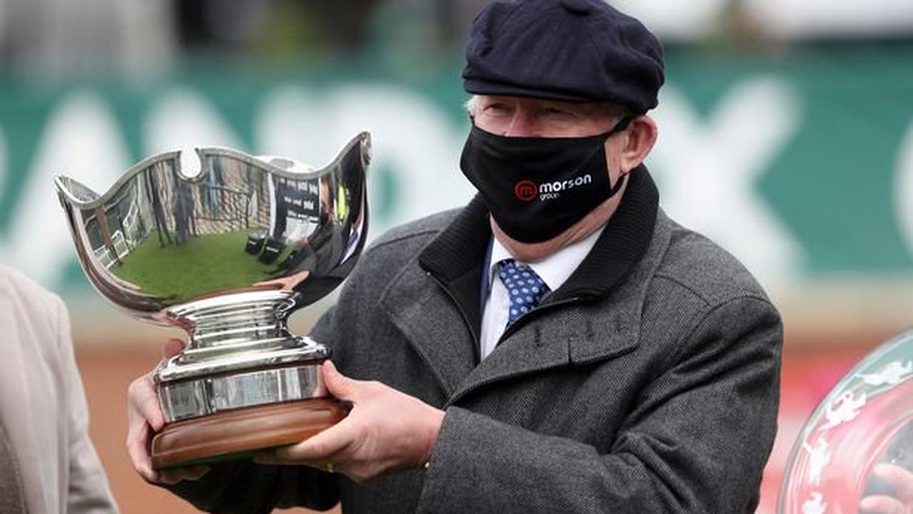 Good day at the races for Sir Alex Ferguson as he celebrates £169,000 62-1 hat-trick at Aintree