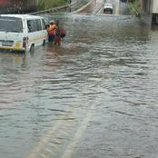 Bad weather and downpours in Johannesburg